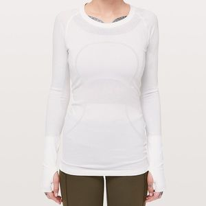 Lululemon Swiftly Tech Long Sleeve Crew White NWT